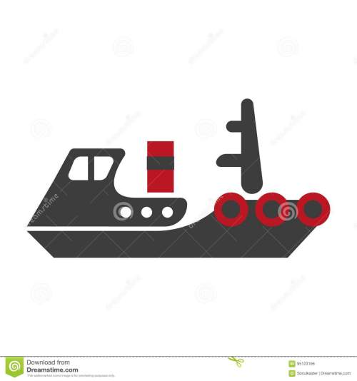 small resolution of minimalistic flat schematic ship composed of separate black and red parts isolated vector illustration on white background cartoon old fashioned model of