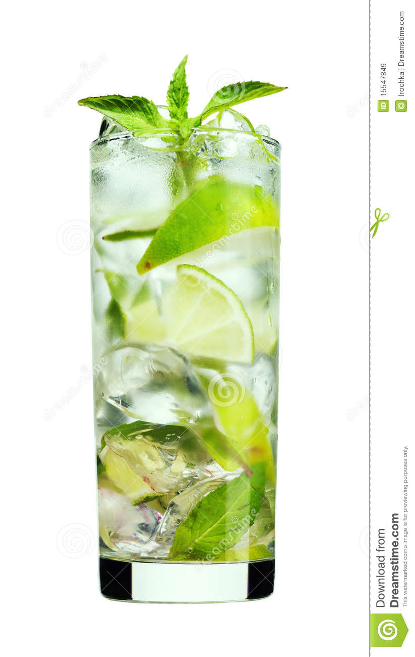 Mint Mojito drink stock image Image of ingredient white