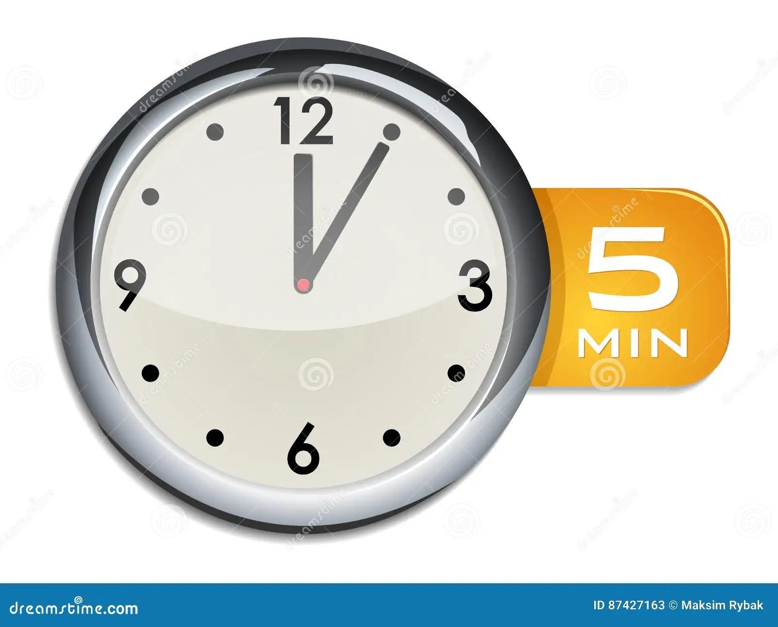 Minuterie D Horloge Murale De Bureau 5 Minutes