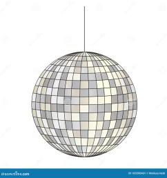mirrored disco ball vector clipart illustration [ 1300 x 1390 Pixel ]