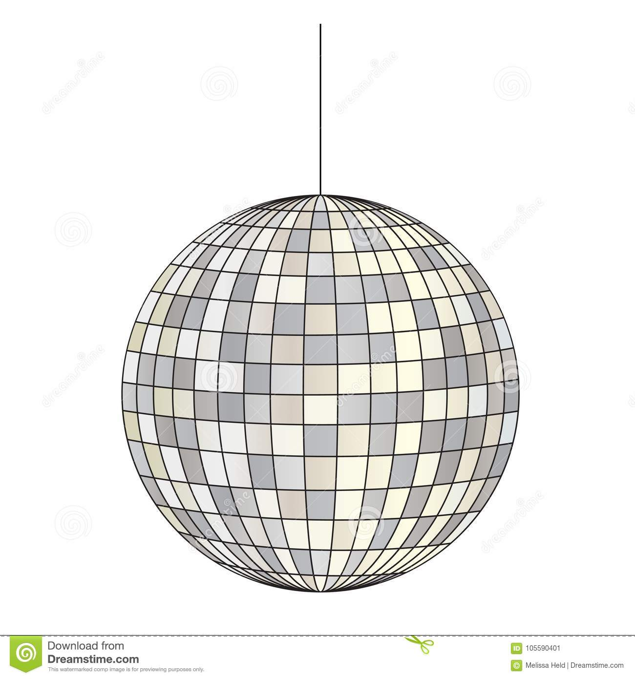 hight resolution of mirrored disco ball vector clipart illustration