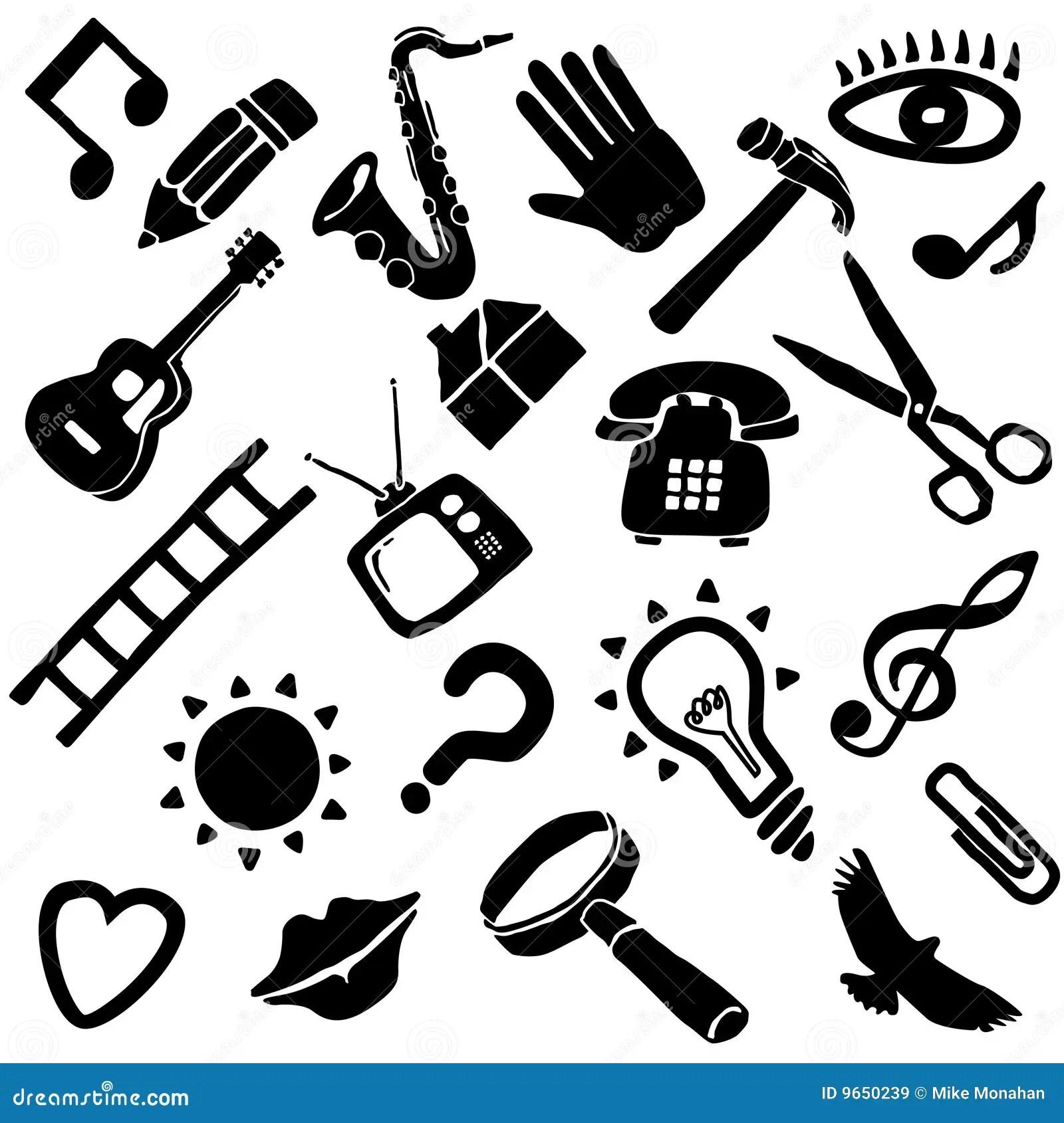 Miscellaneous Icon Set Stock Vector Illustration Of