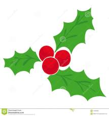 Cartoon Christmas Mistletoe Clip Art
