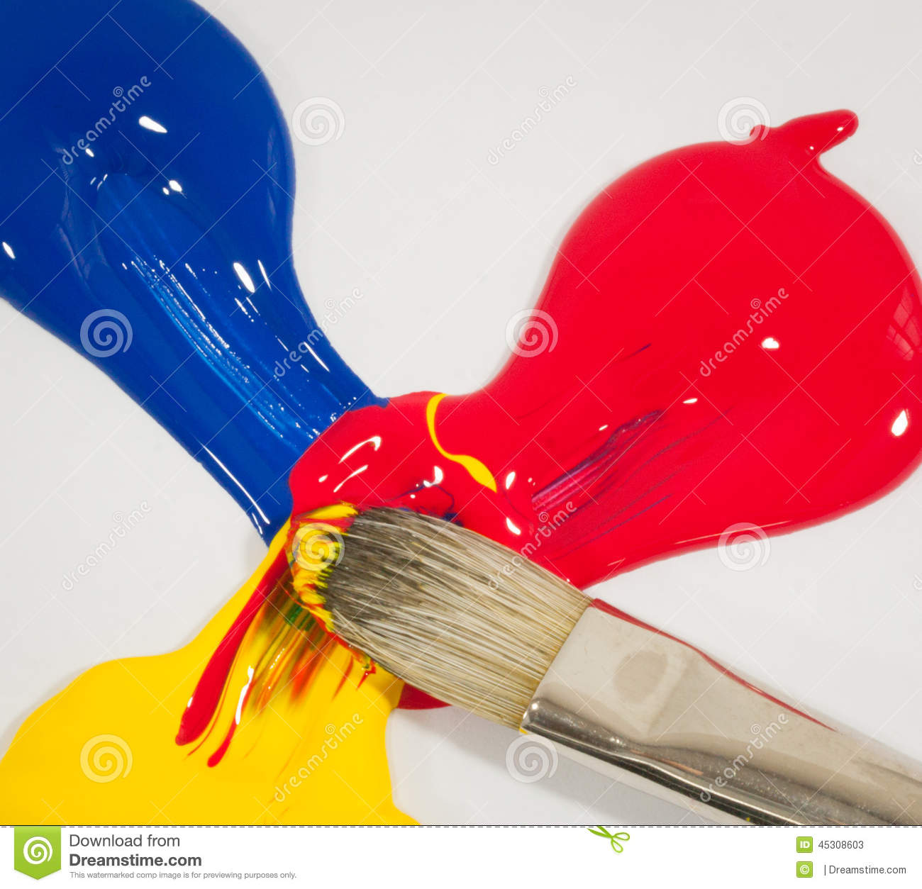 Mixed Primary Colors Stock Image Image Of Learn Create