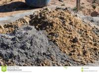 Mixing cement and sand stock photo. Image of mason, cement ...