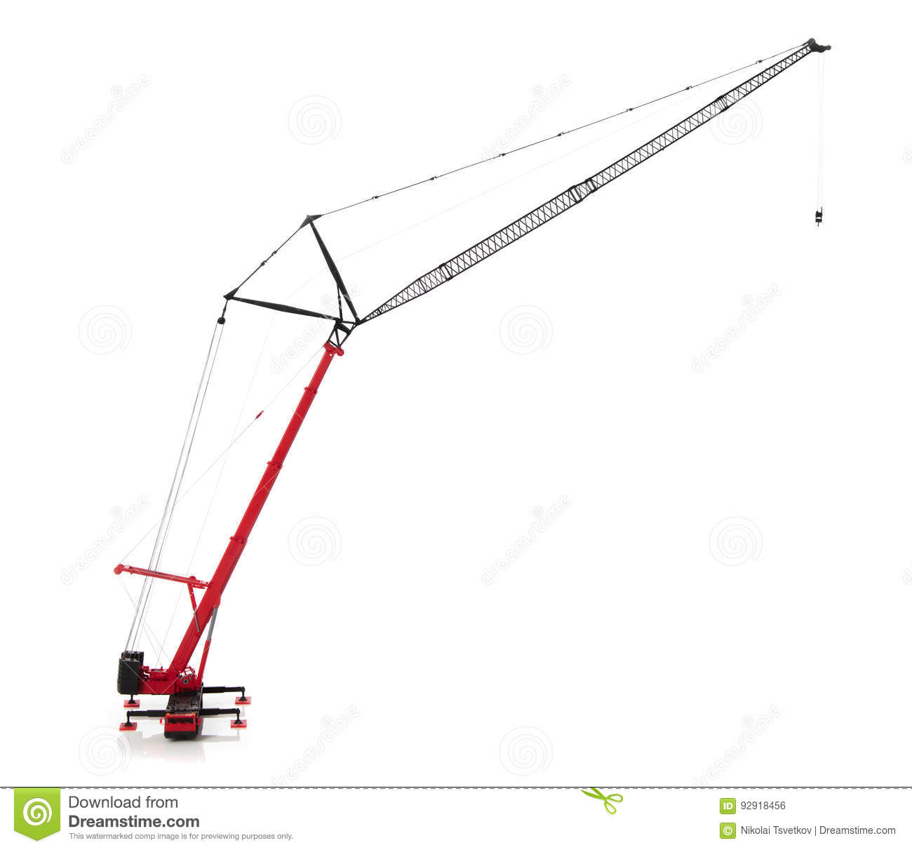 hight resolution of mobile crane isolated over white background