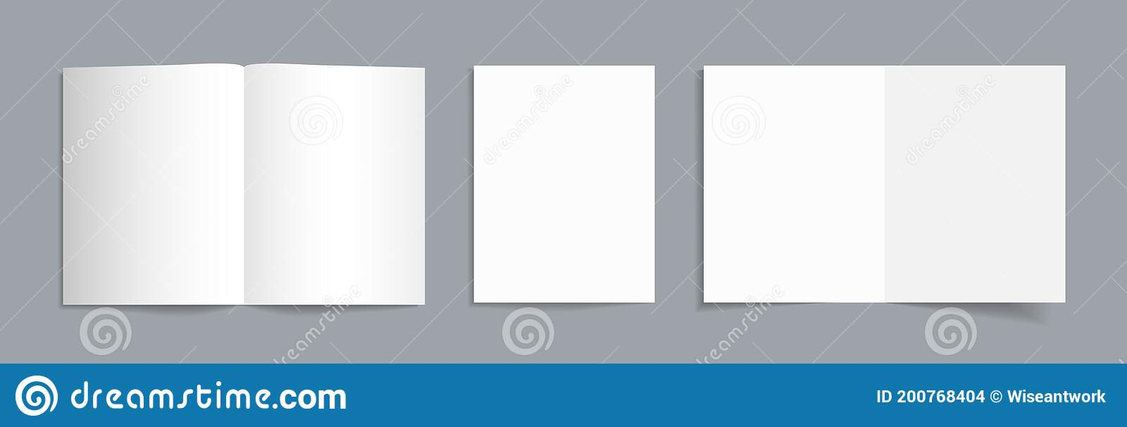 Some of these templates have margin guides on and guides for bleed. Mockup Of Brochure A4 Booklet Open Blank Template With Fold White Isolated Mock For Flyer Letter Magazine A5 A6 A3 Paper Stock Vector Illustration Of Folder Cover 200768404