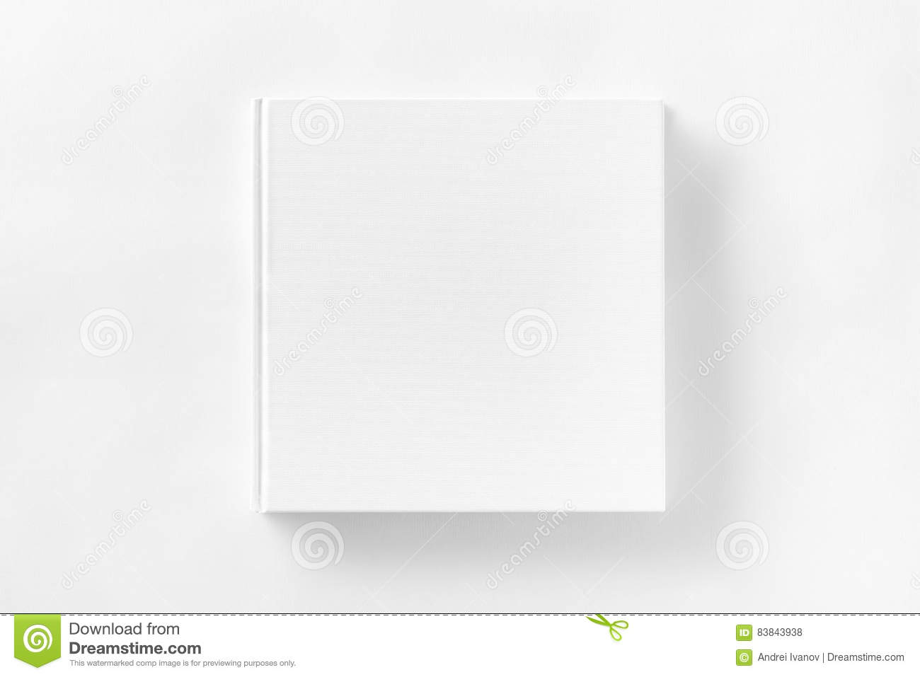 Mockup Of Closed Blank Square Book At White Textured Paper Stock Illustration Image 83843938