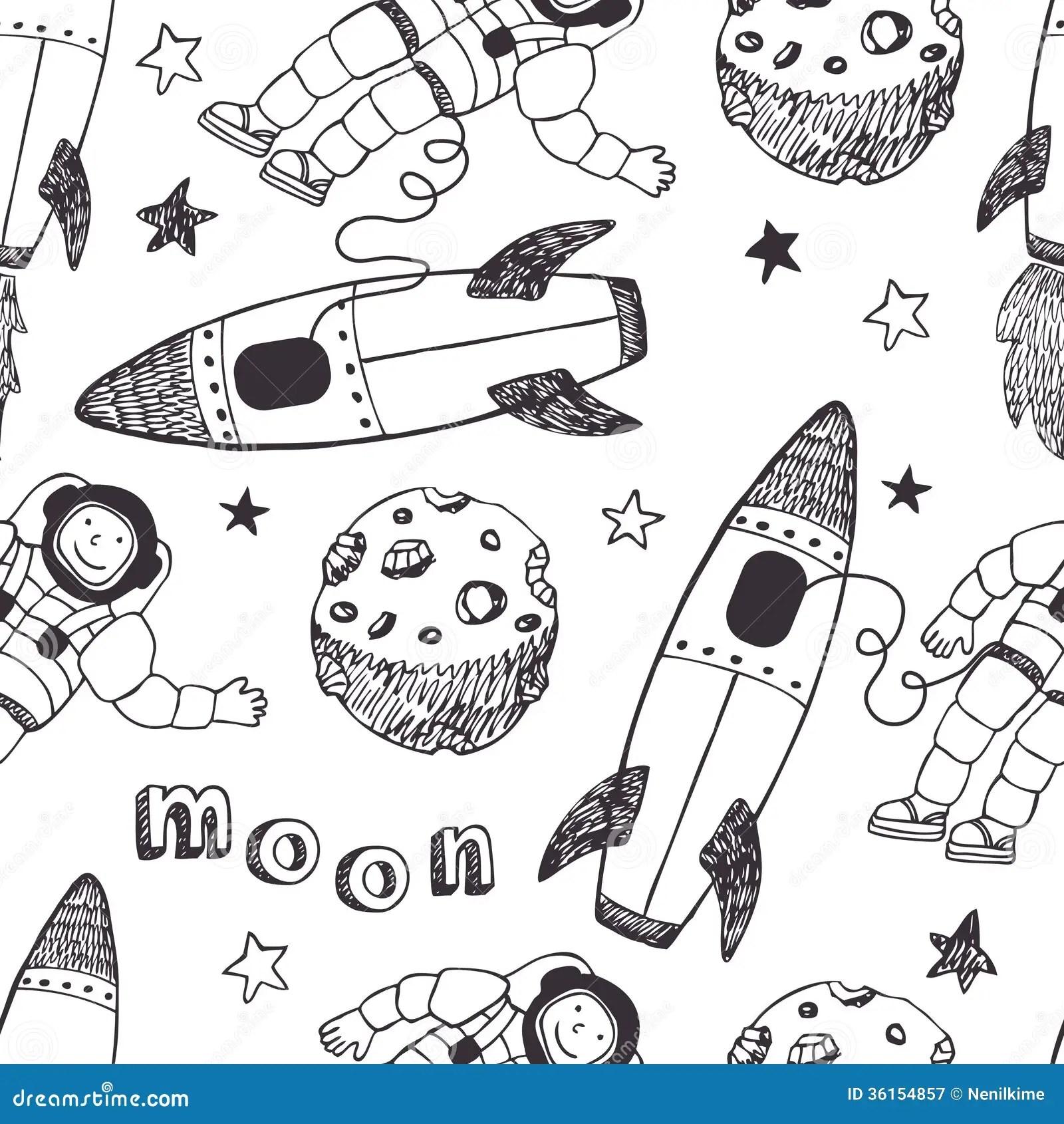 Modele De Rocket Et D Astronautes Photographie Stock Libre