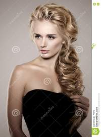 Model With Long Braided Hair. Waves Curls Braid Hairstyle ...