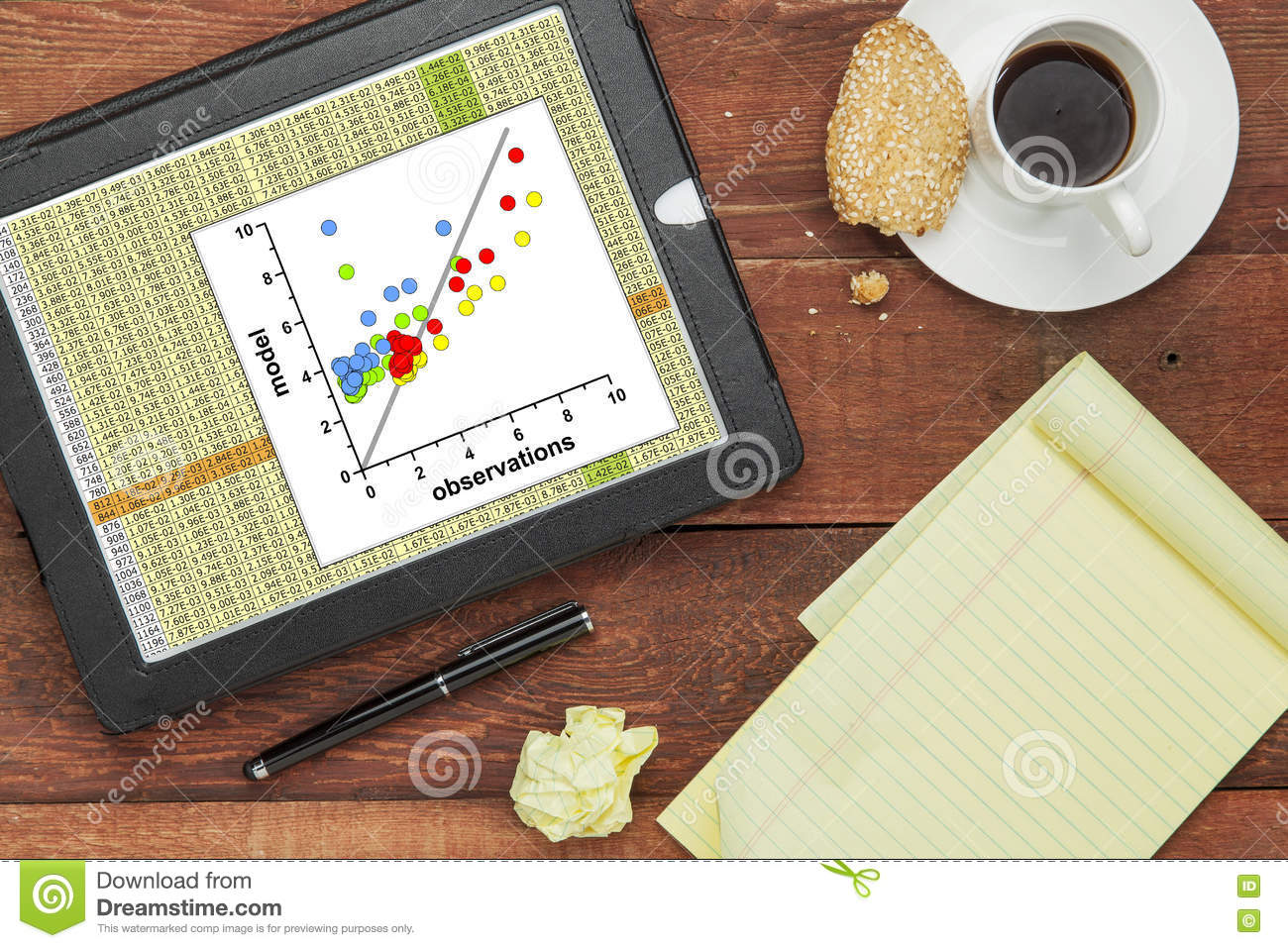 Model And Observation Data Stock Image Image Ofysis