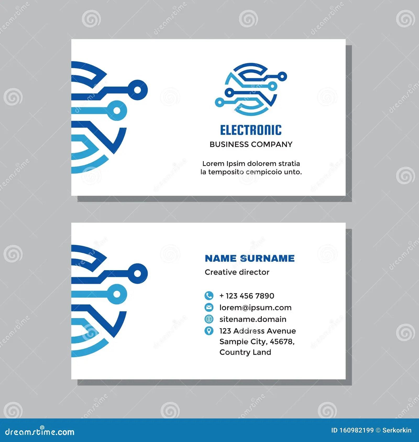Enterprise ecommerce platform for unique projects. Modelo De Cartao De Visita De Empresa Com Logotipo Projeto De Conceito Tecnologia Digital De Computador De Rede Assinatura Elet Ilustracao Do Vetor Ilustracao De Folheto Companhia 160982199