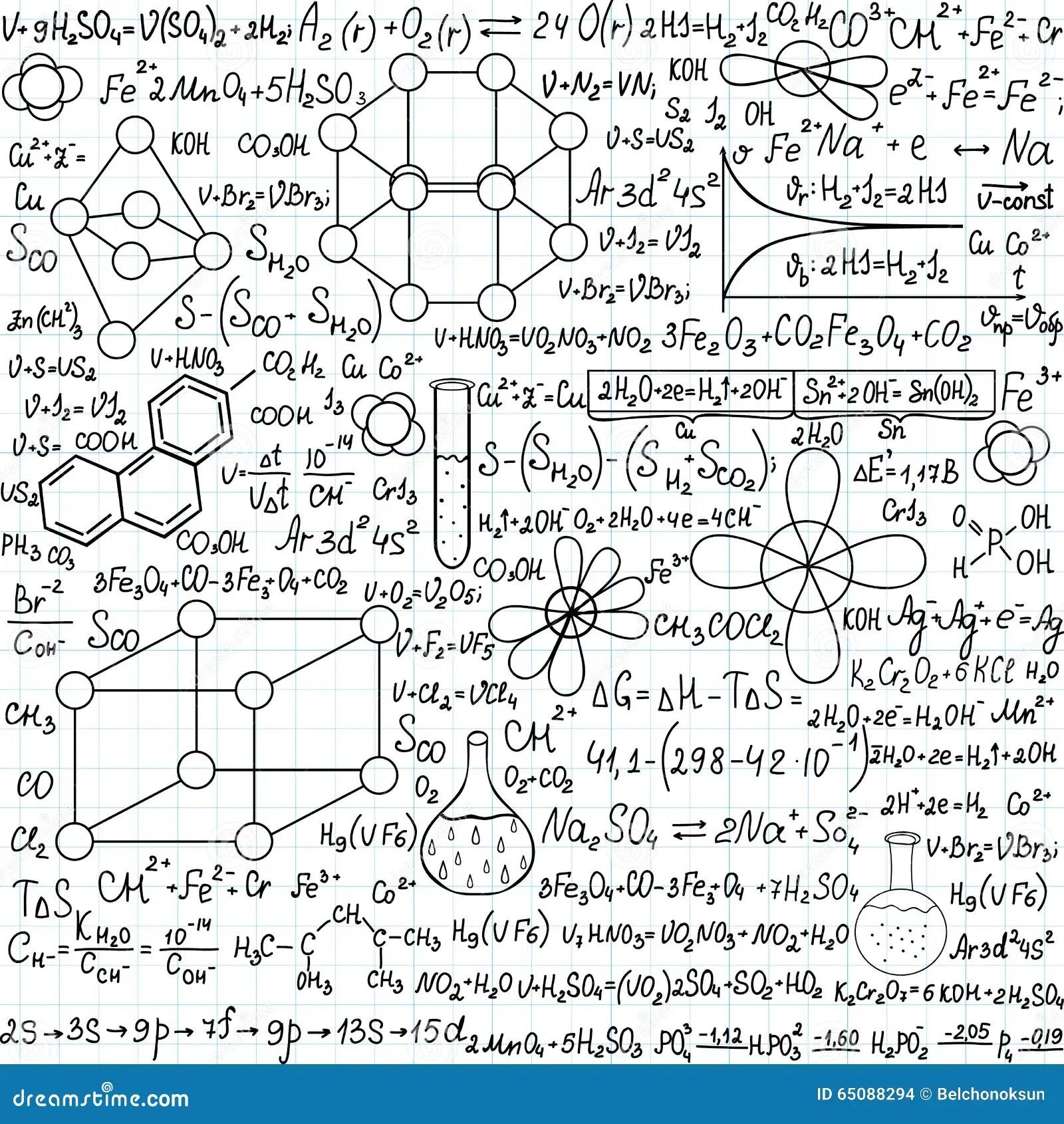 Modelo Inconsútil Del Vector De La Química Con Los