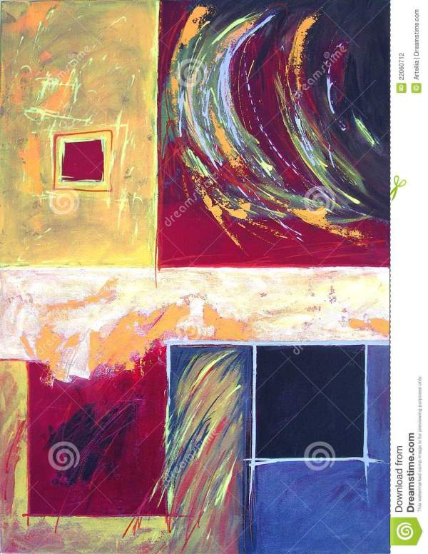 Modern Abstract Art - Expressive Painting Style Stock