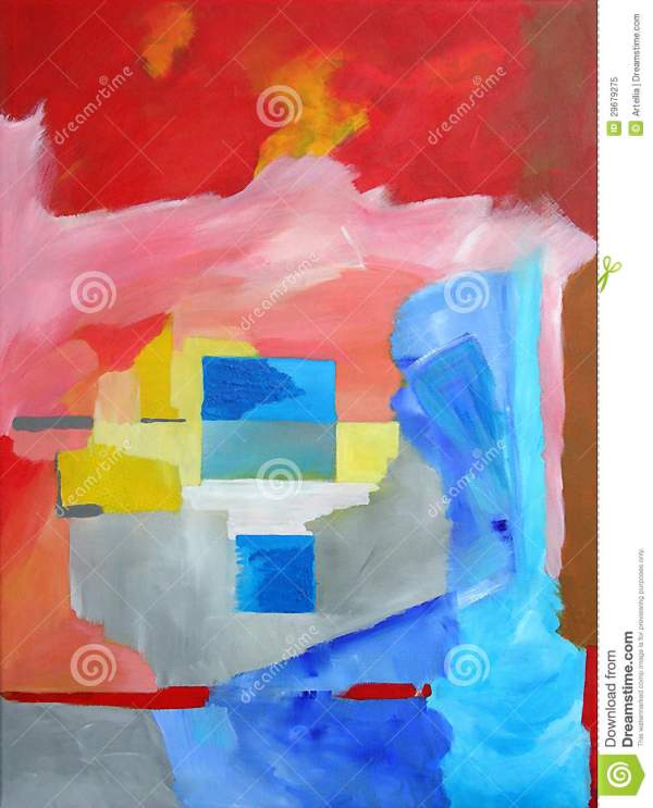 Modern Abstract Art - Painting Squares Background