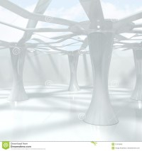 Modern Abstract Interior With Big Columns Royalty Free ...