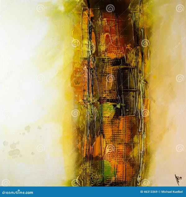 Modern Abstract Painting Fine Art Artprint Stock