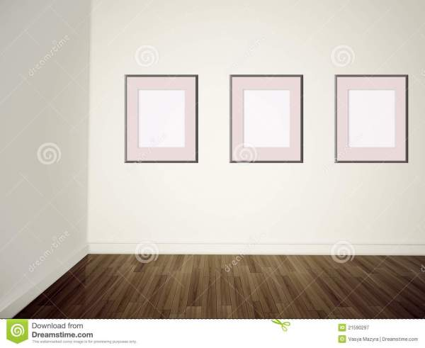 Modern Art Empty Wall Stock