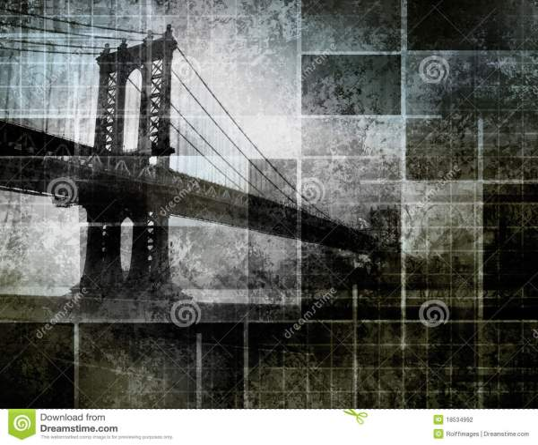Modern Art Inspired York City Bridge Stock