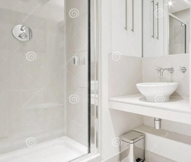 Modern Bathroom With Corner Shower