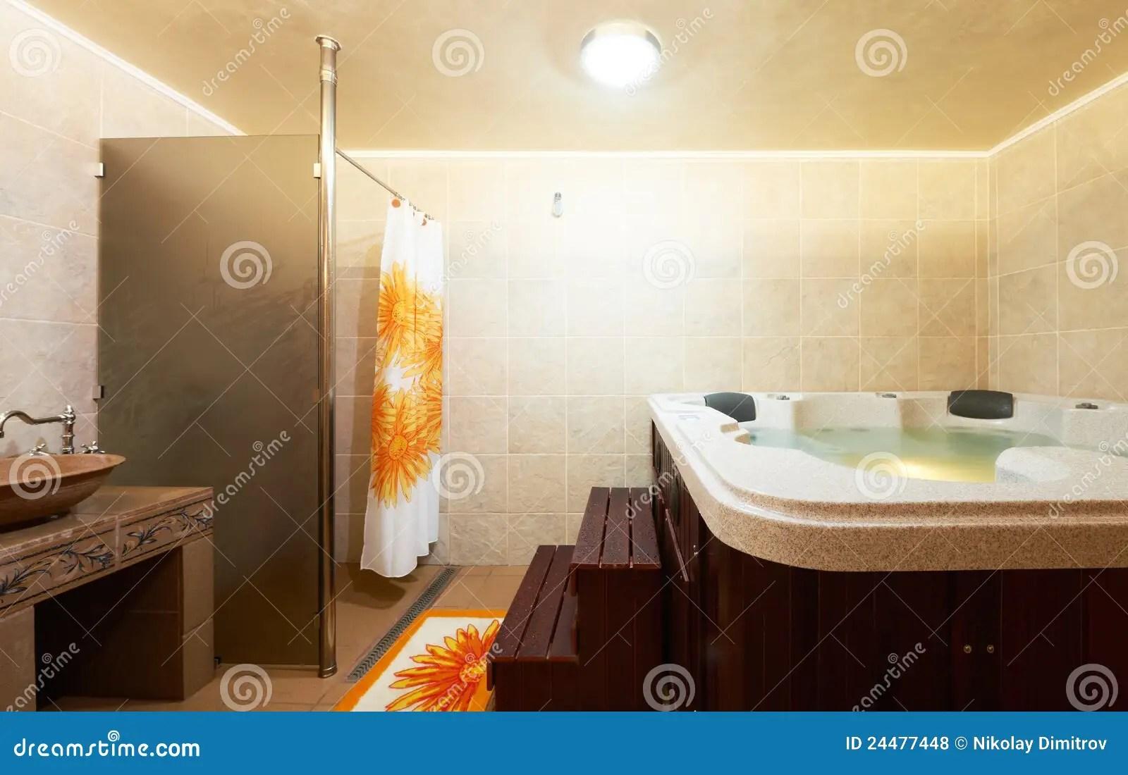 Modern Bathroom With Jacuzzi Stock Photo  Image 24477448