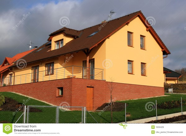Modern And Big Family House Royalty Free Stock
