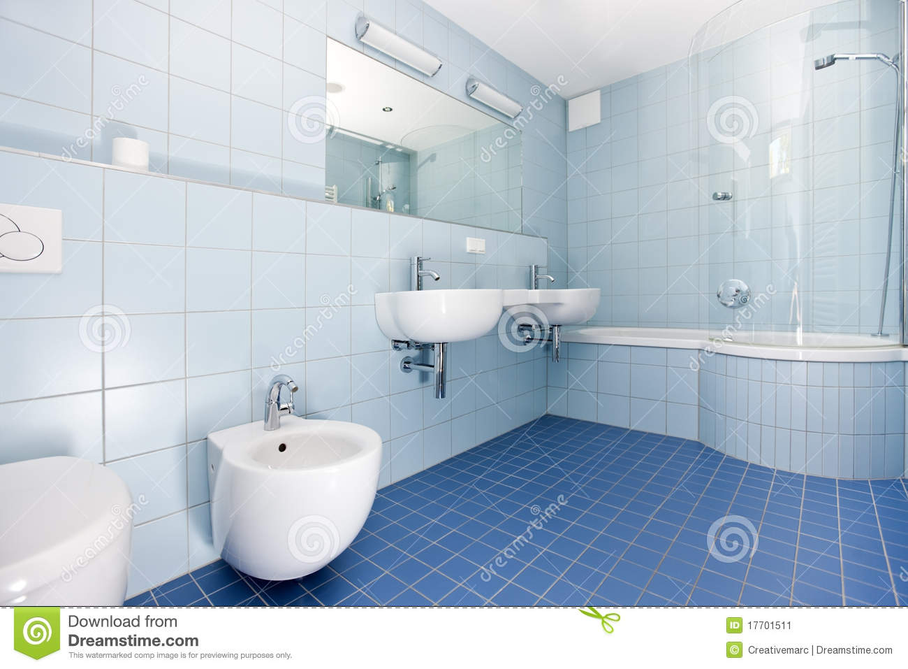 Modern Blue Bathroom Stock Image  Image 17701511