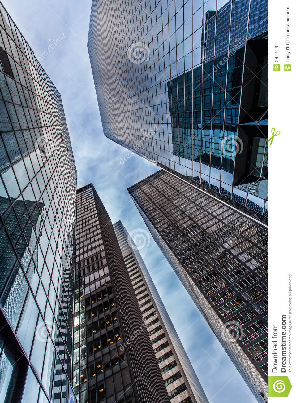 Modern business center stock image Image of haze