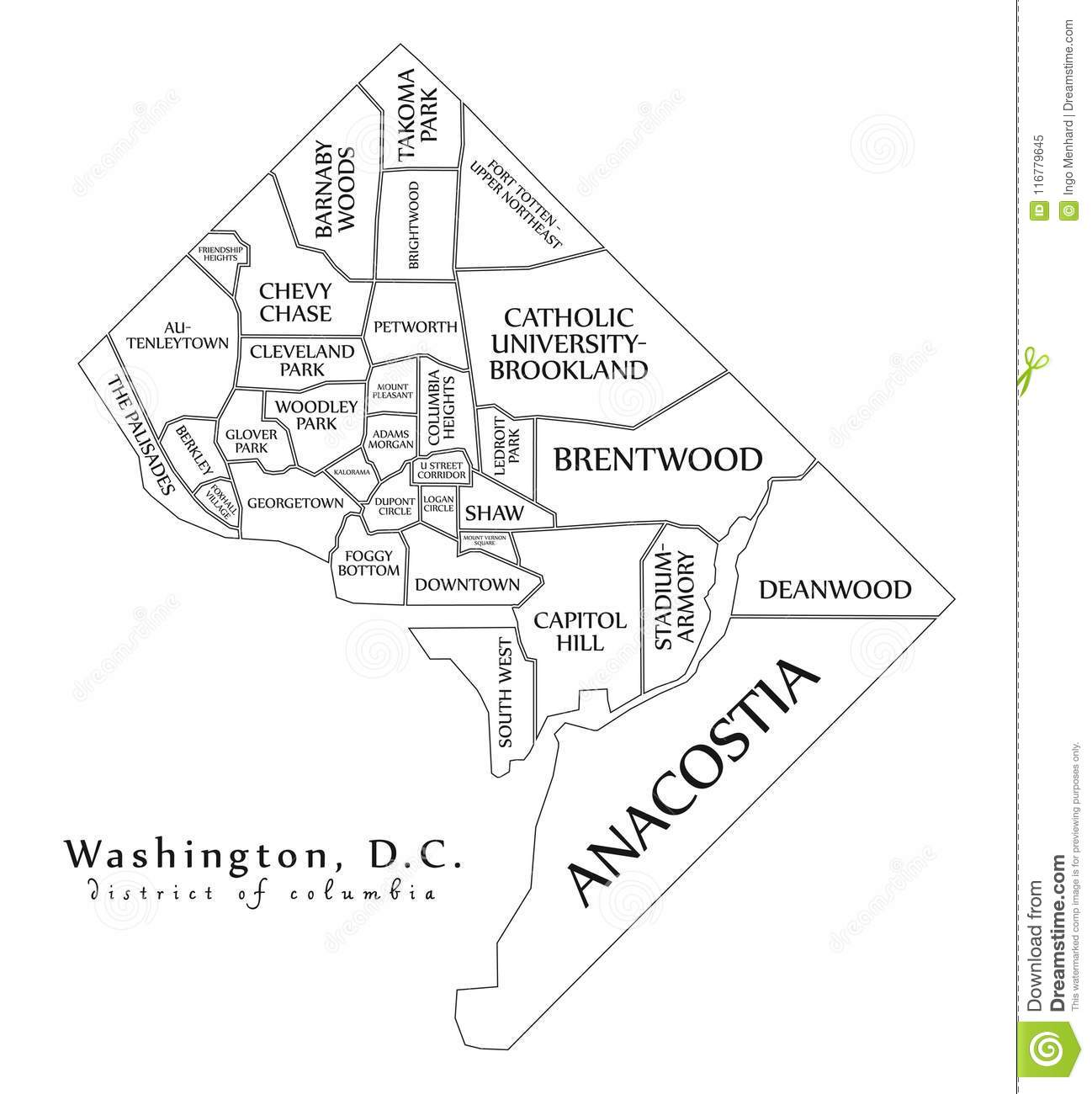 Dc Map Outline
