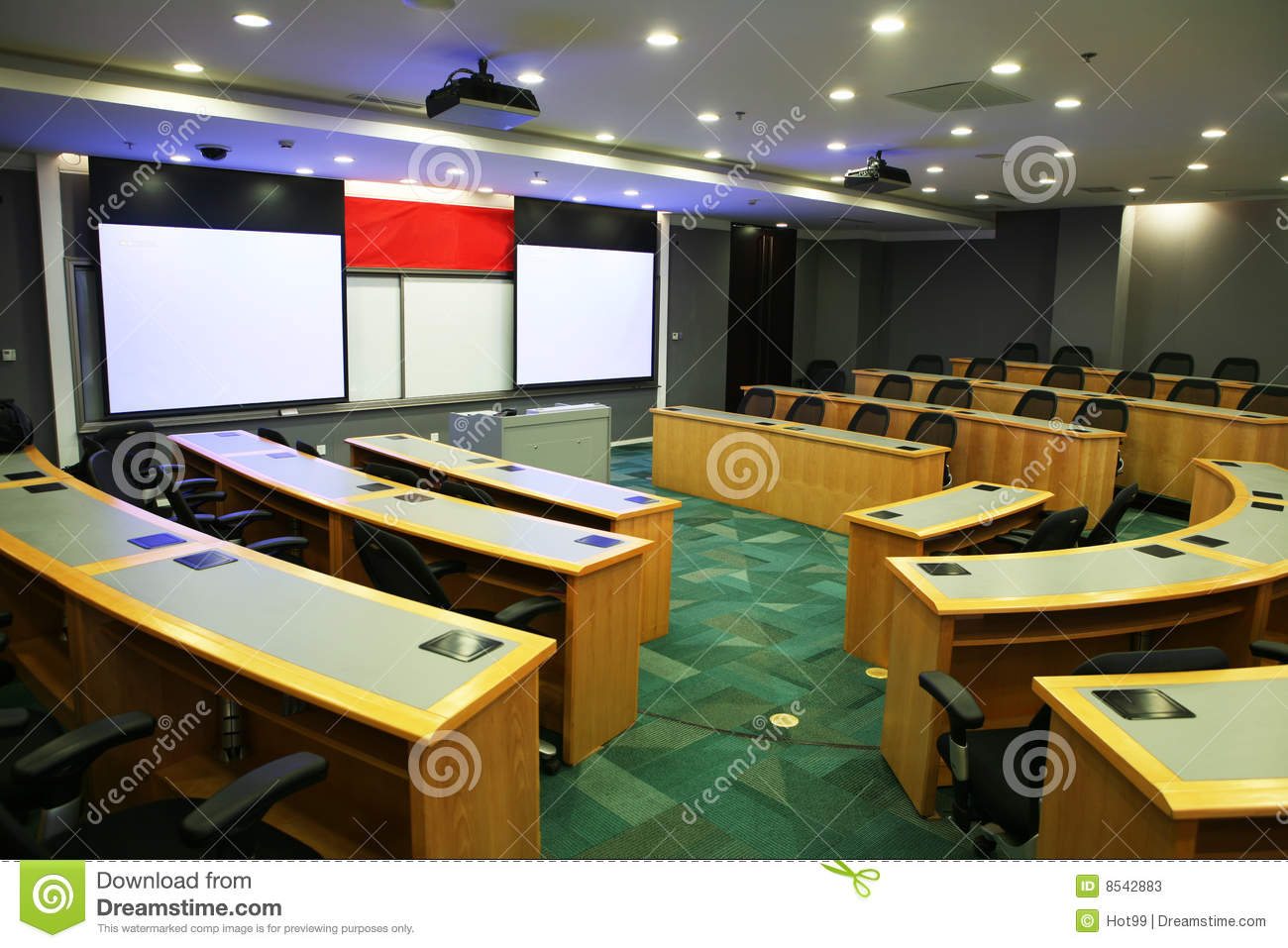 Modern Classroom With Projector Stock Photos  Image 8542883