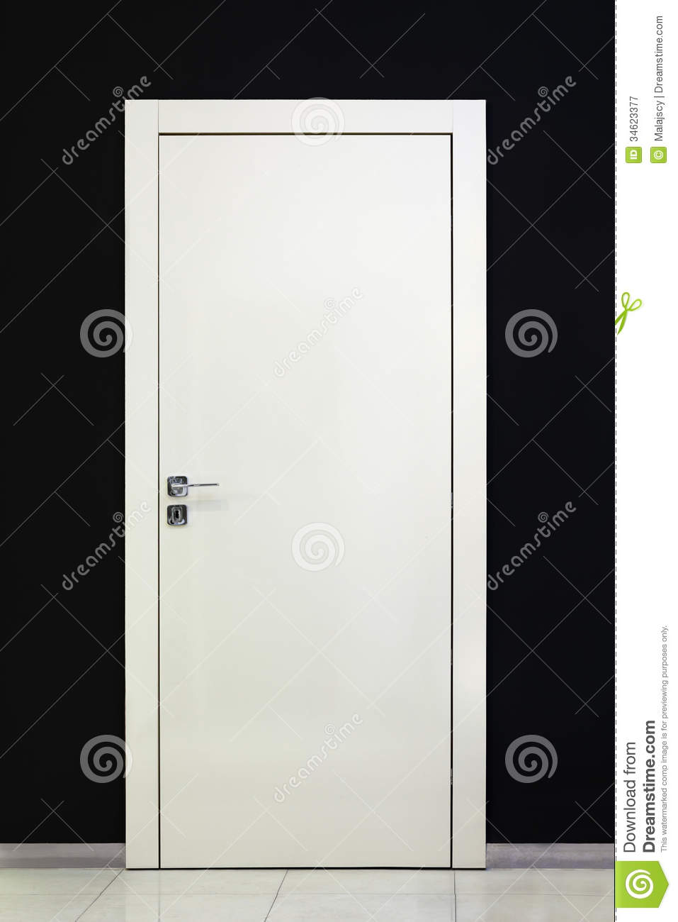 Modern Closed White Door Stock Image Image Of Detail
