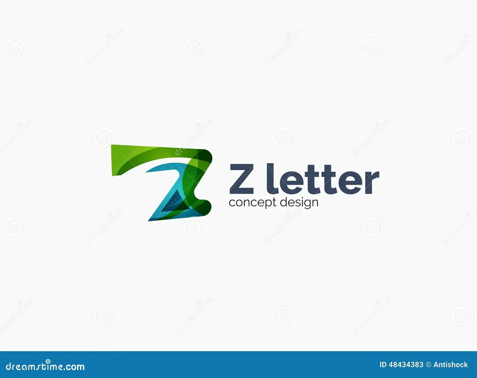 Modern Company Z Letter Logo Stock Vector  Image 48434383
