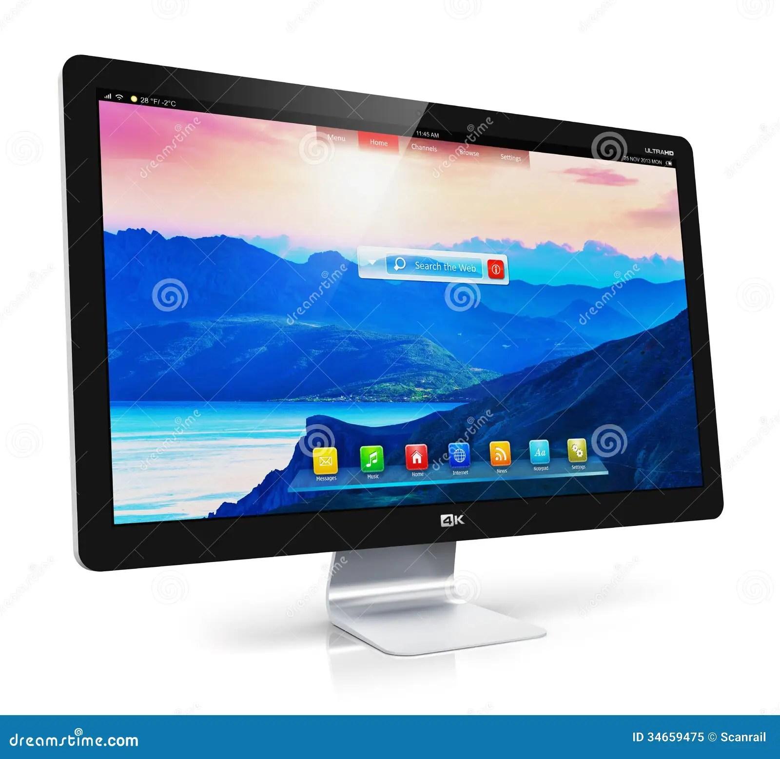 Modern Computer Monitor Royalty Free Stock Photo  Image