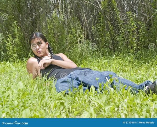 Modern Day Native American Teenage Boy Stock