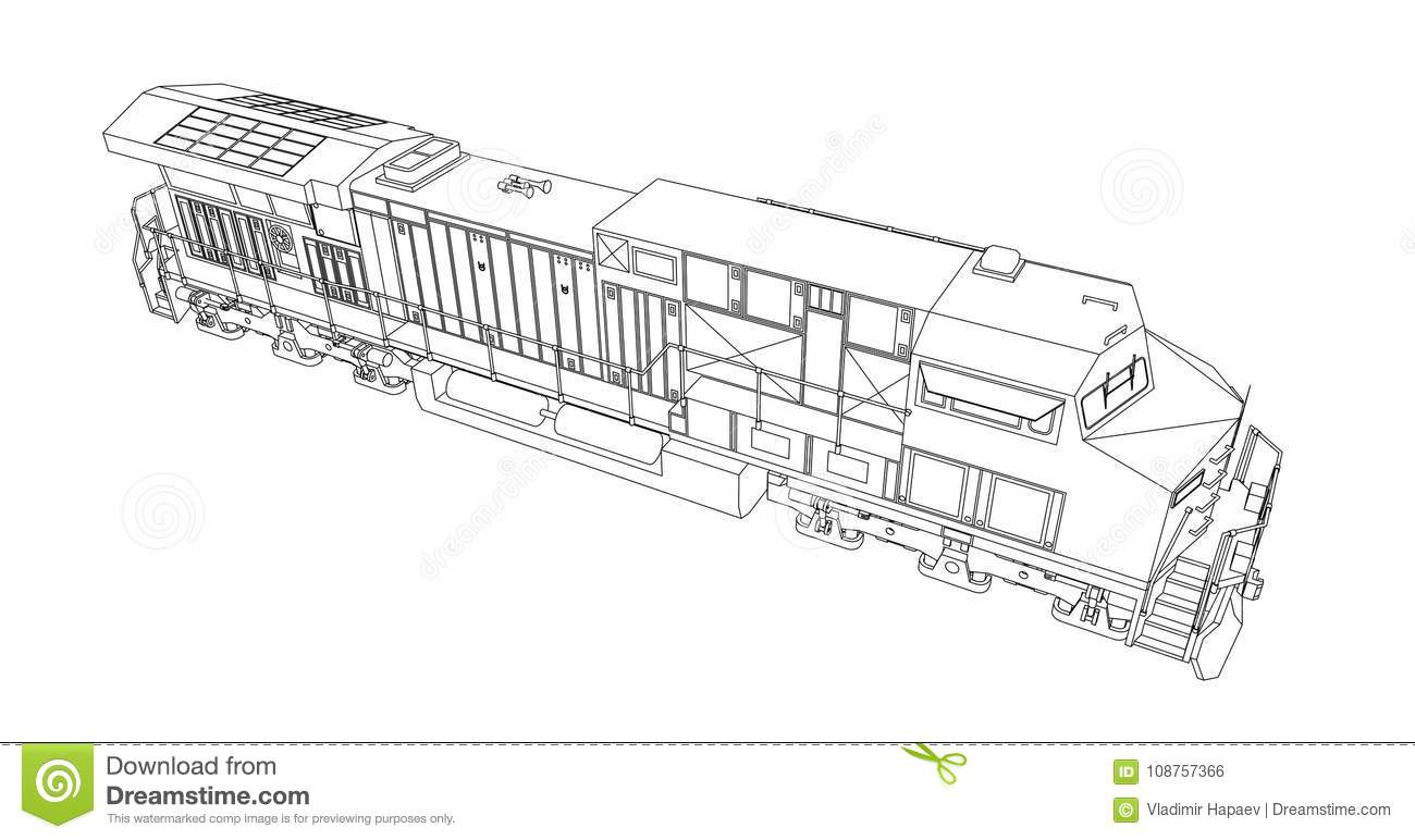 Modernsel Railway Locomotive With Great Power And