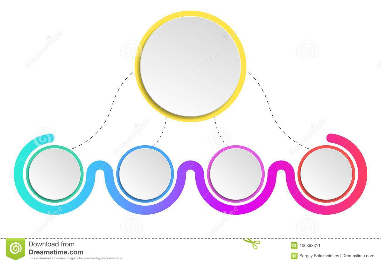 hight resolution of modern elements infographics diagram to show your work realistic paper circles and objects with a shadow colorful illustration in a flat style eps 10