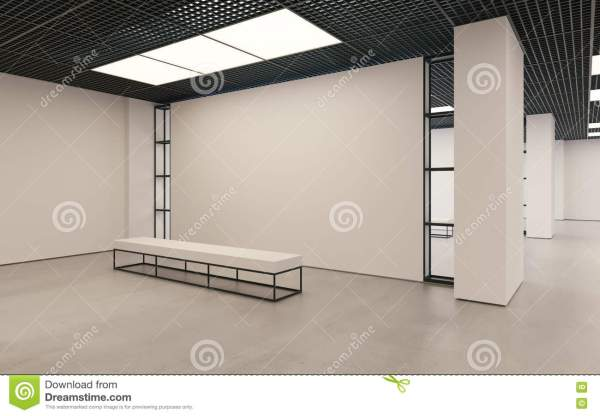 Modern Empty Minimalistic Interior Of Exhibition With