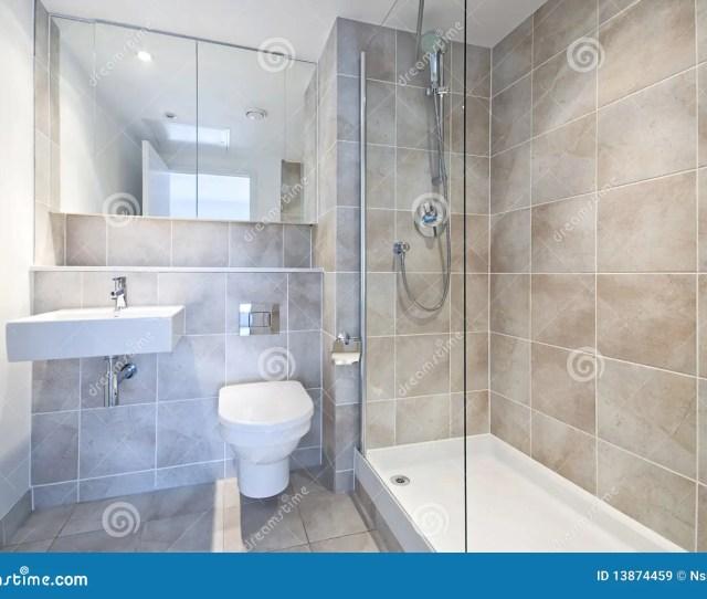 Modern En Suite Bathroom With Large Shower
