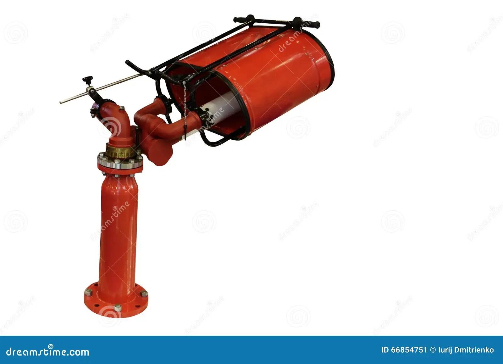 Fire Fighting Equipment Cartoon Vector
