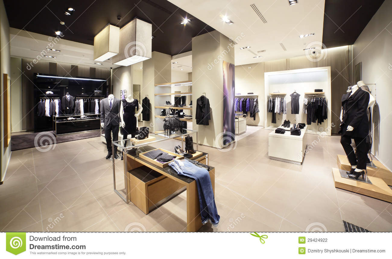 Modern And Fashion Clothes Store Stock Photo Image 29424922