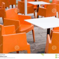 Orange Cafe Chairs Cheap Chair Cover Hire Perth Modern Furniture Outdoor Terrace With