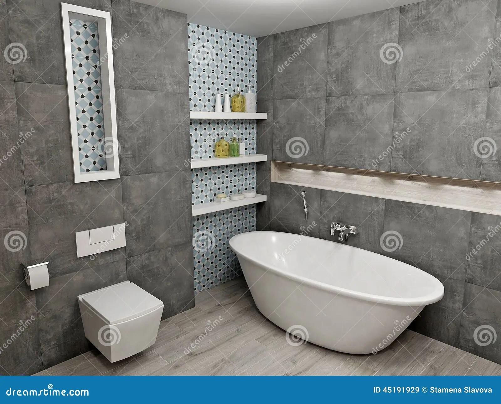 Modern gray bathroom stock illustration Illustration of