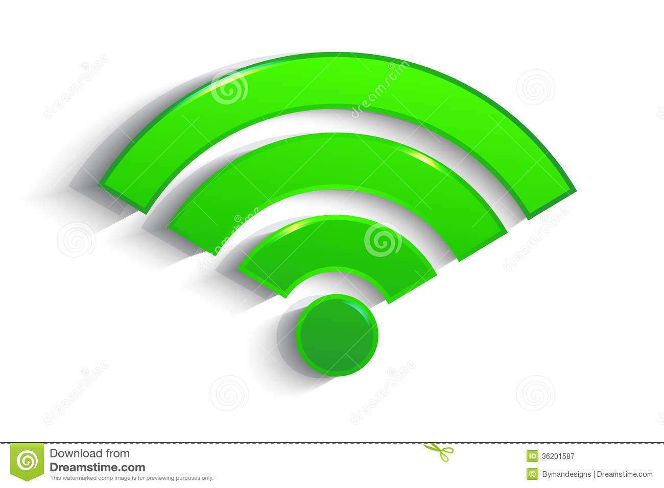 Modern Green Paper WiFi Symbol With Shadow Royalty Free Stock Photography  Image 36201587