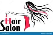 modern hair salon logo stock vector