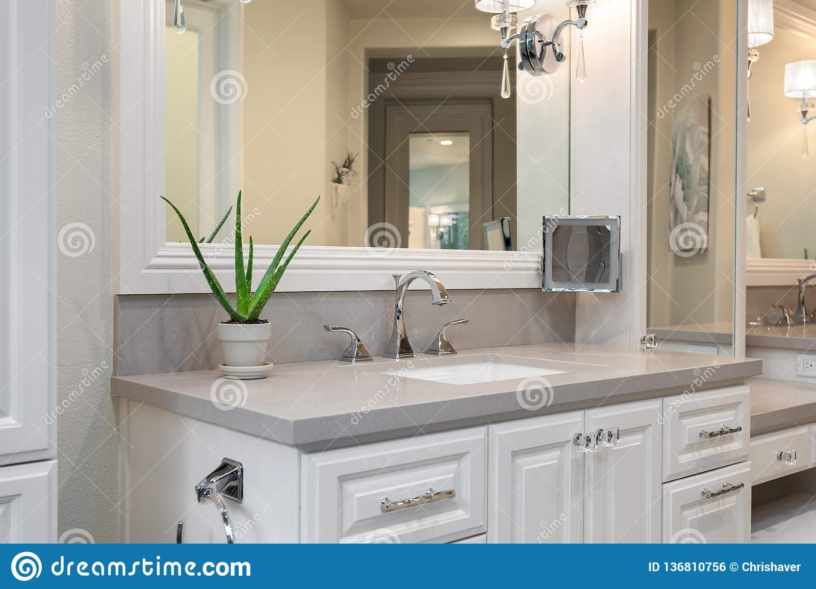 Modern Home Design Bathroom Vanity Home Interiors Editorial Photo Image Of Cabinets Architecture 136810756
