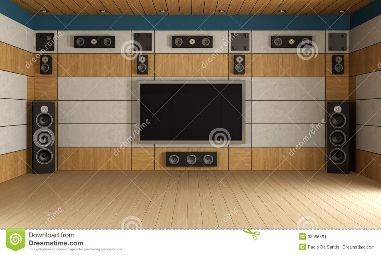 Modern Home Theater Room Stock Illustration Illustration