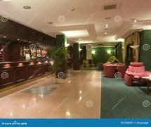 Modern Hotel Lobby Interior Royalty Free Stock