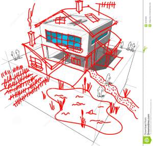 Modern House Redesign Diagram Stock Photo  Image: 35763300