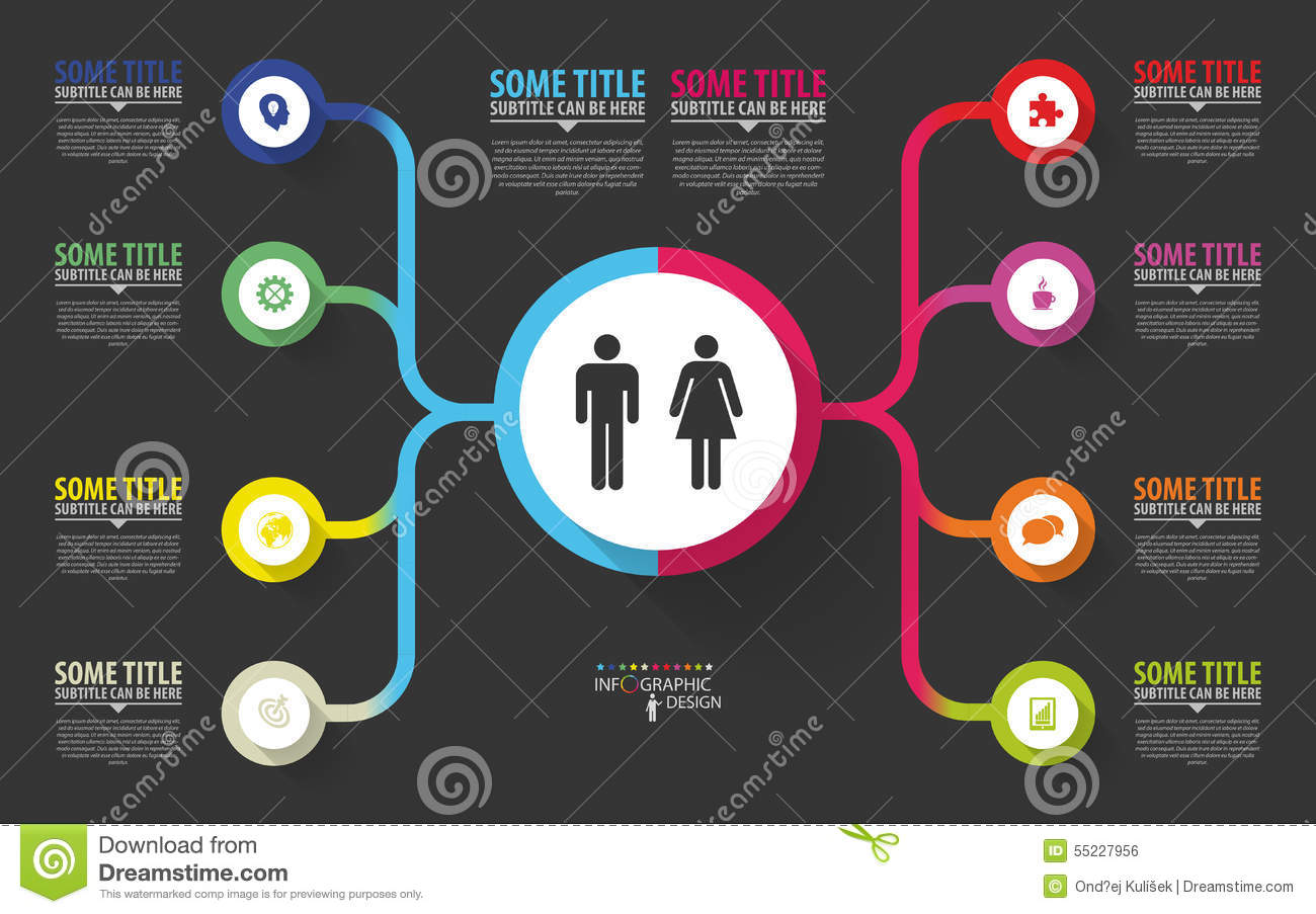 Modern Infographics Business Plan Design Template Vector
