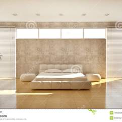 Contemporary Leather Sofa Laptop Tray Modern Interior Of A Bedroom Royalty Free Stock Image ...